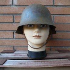 Militaria: ANTIGUO CASCO AZAÑA REPUBLICANO MODELO 38 - GUERRA CIVIL. Lote 232812795