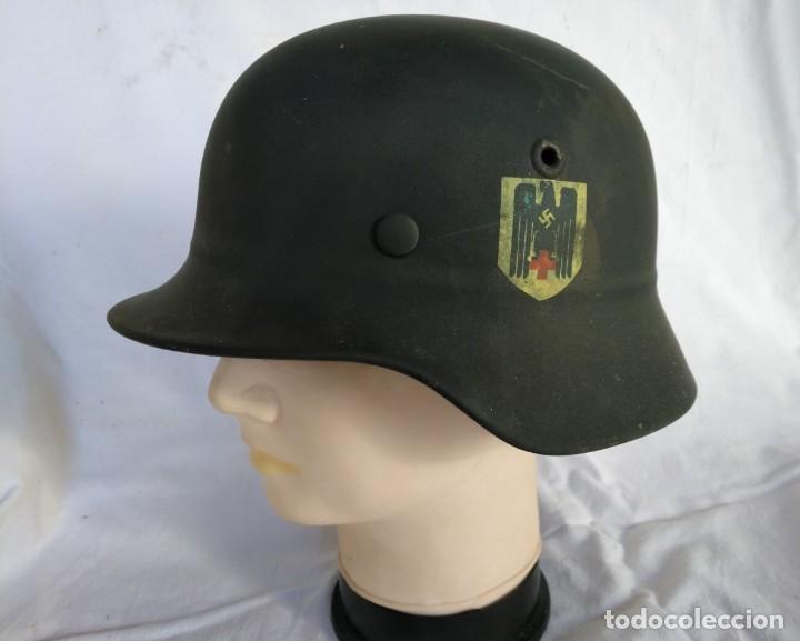 CASCO ALEMÁN MOD.35 PARA LA CRUZ ROJA. (NO APTO PARA COMBATE). MUY RARO. (Militar - Cascos Militares )