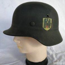 Militaria: CASCO ALEMÁN MOD.35 PARA LA CRUZ ROJA. (NO APTO PARA COMBATE). MUY RARO.. Lote 234477150