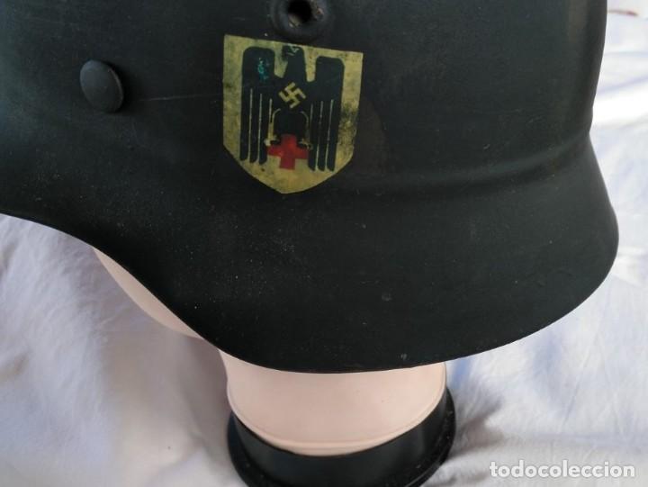Militaria: CASCO ALEMÁN Mod.35 PARA LA CRUZ ROJA. (NO APTO PARA COMBATE). MUY RARO. - Foto 3 - 234477150
