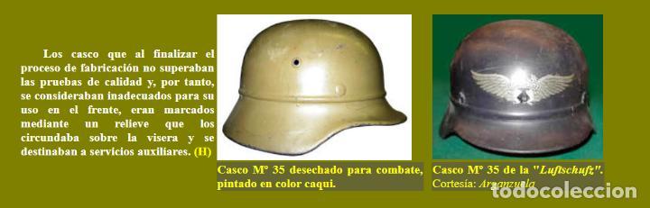 Militaria: CASCO ALEMÁN Mod.35 PARA LA CRUZ ROJA. (NO APTO PARA COMBATE). MUY RARO. - Foto 10 - 234477150
