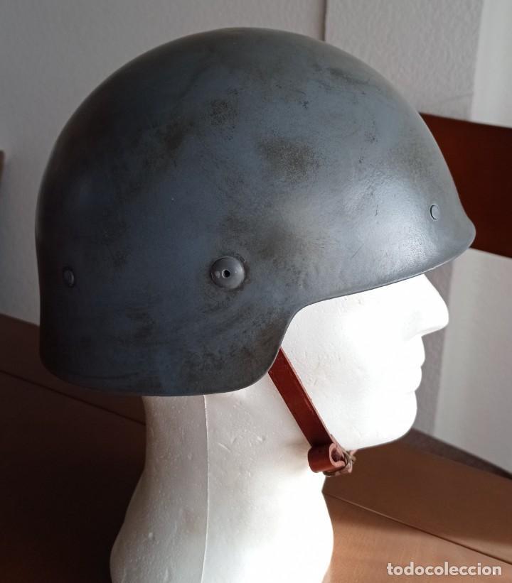 Militaria: Casco español m21 original sin trabilla frontal, guerra civil, restaurado. - Foto 3 - 235489245