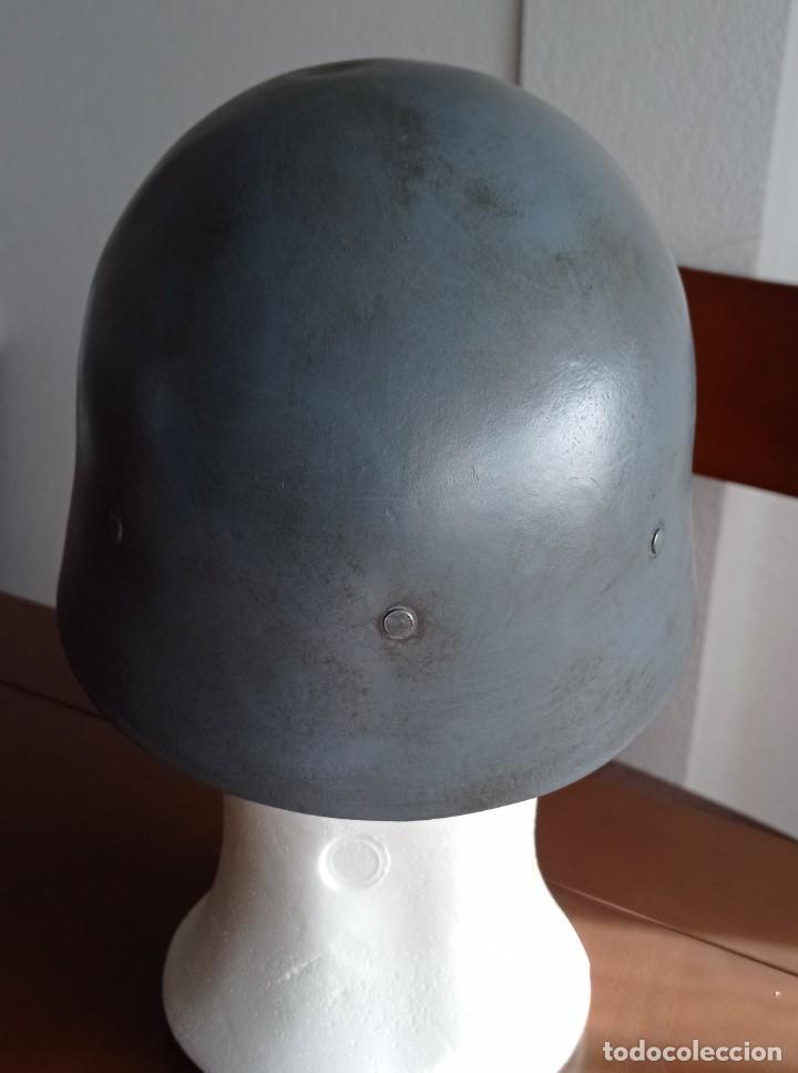Militaria: Casco español m21 original sin trabilla frontal, guerra civil, restaurado. - Foto 4 - 235489245