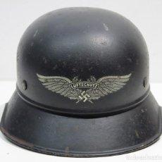 Militaria: SGM WWII CASCO ALEMAN LUFTSCHUTZ M38 GLADIATOR TALLA 64/57 COMPLETO Y ORIGINAL GARANTIZADO.. Lote 100373019