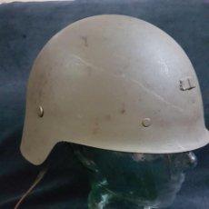 Militaria: CASCO TRUBIA ALA CORTA 1926 CON ENGANCHE FRONTAL PARA REUTILIZACION EN POSTGUERRA. Lote 238305140
