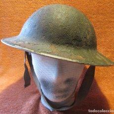 Militaria: CASCO MK-II BRITANICO, INGLES, COLOR VERDE CAQUI/ARENA, MOD. 1938, SEGUNDA GUERRA MUNDIAL 1939-1945.. Lote 241415530