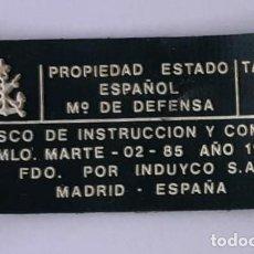 Militaria: ETIQUETA CASCO MARTE 02 AÑO 1989. Lote 243825735