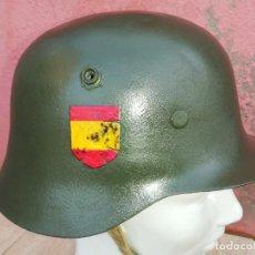 Militaria: CASCO ALEMAN DIVISIÓN AZUL (SEGUNDA GUERRA MUNDIAL). Lote 244577875