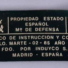Militaria: ETIQUETA CASCO MARTE 02 AÑO 1989. Lote 245305355