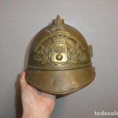 Militaria: ANTIGUO CASCO DE BOMBEROS FRANCES, SIGLO XIX Y PRINCIPIOS SIGLO XX, ORIGINAL. FRANCIA.. Lote 248831645