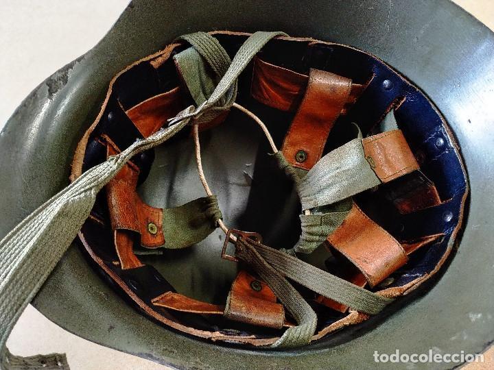 Militaria: CASCO MILITAR ALEMÁN CON SOPORTE FRONTAL - 2ª GUERRA MUNDIAL - Foto 10 - 253515625