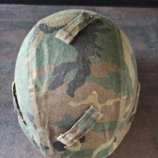 Militaria: FUNDA DE CASCO TALLA P AJUSTABLE MIMETIZADO BOSCOSO WOODLAND. Lote 253637015