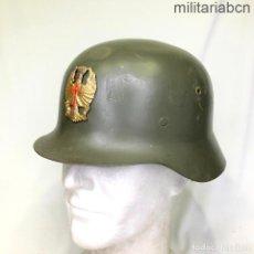 Militaria: ESPAÑA. CASCO MODELO Z-42 CON INSIGNIA FRONTAL. INTERIOR SEGUNDO MODELO.. Lote 254194875