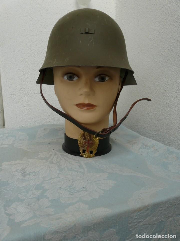 CASCO TRUBIA MODELO 38 AZAÑA ( GUERRA CIVIL ) CON AGUILA (Militar - Cascos Militares )