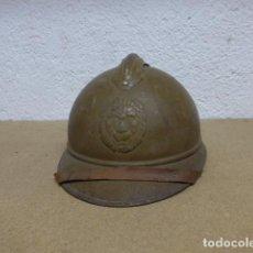 Militaria: ANTIGUO Y RARO CASCO BELGA MODELO 1915 CON TODO ORIGINAL DE EPOCA I GUERRA MUNDIAL.. Lote 255635280