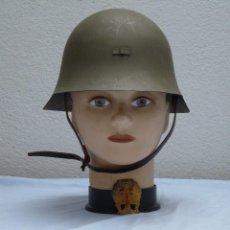 Militaria: CASCO TRUBIA MODELO 38 AZAÑA ( GUERRA CIVIL ) CON AGUILA. Lote 263203915