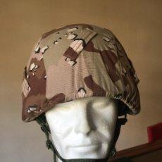 Militaria: INFANTERIA DE MARINA, CASCO MARTE 02 TALLA M, FUNDA DESERT. Lote 263705130