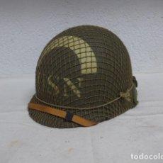 Militaria: CASCO M1 RECREADO DE LA USN AMERICANA, INTERIOR DE COCO, MARINES AMERICANOS, ESTADOS UNIDOS IIWW. Lote 265993003