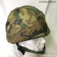 Militaria: FUNDA DE CAMUFLAJE PARA EL CASCO MARTE II/85. 85/89. INFANTERÍA DE MARINA. Lote 267771569