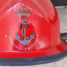 Militaria: CASCO DE BOMBERO DE LA ARMADA, SEGURIDAD INTERIOR BUQUES. Lote 268036454