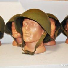 Militaria: LOTE 5 CASCOS SOVIETICOS .1948-1985 A.SSH-40 ,SSH-60. Lote 268458544