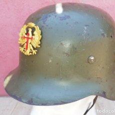 Militaria: CASCO Z EJÉRCITO ESPAÑOL SEGUNDO MODELO CON INSIGNIA. Lote 268946184