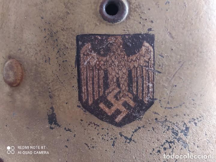Militaria: Casco alemán afrika korps, original - Foto 2 - 269692003