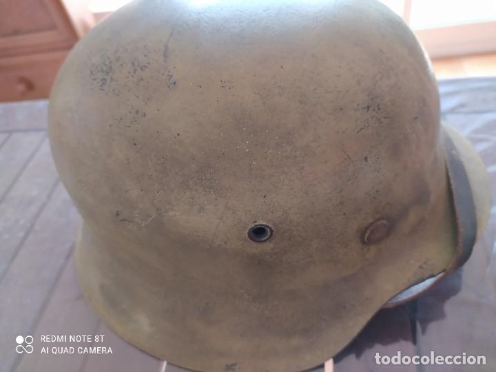 Militaria: Casco alemán afrika korps, original - Foto 10 - 269692003