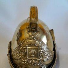 Militaria: CASCO DE BOMBERO FRANCÉS, MODELO 1855. MUY BUEN ESTADO DE CONSERVACIÓN.. Lote 288679258