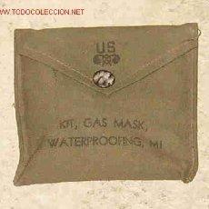 Militaria: FUNDA LONA, KIT, GAS MASK, WATERPROOFINE M1 US. Lote 12574669