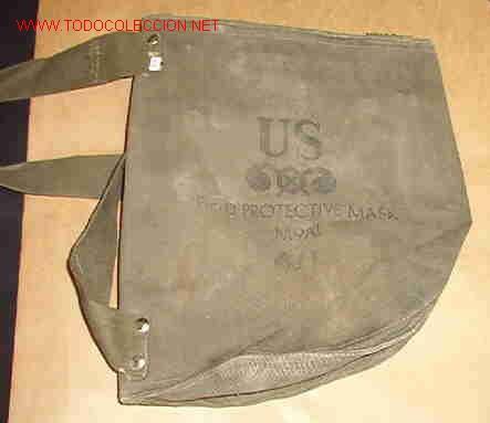 FUNDA DE MÁSCARA ANTIGAS US FIELD PROTECTIVE MASK M9A1 (Militar - Equipamiento de Campaña)