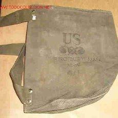 Militaria: FUNDA DE MÁSCARA ANTIGAS US FIELD PROTECTIVE MASK M9A1. Lote 24039058