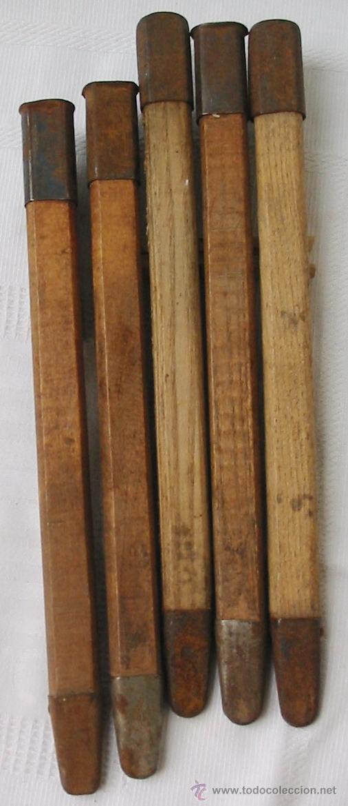 Militaria: Piqueta de madera para poncho y tienda de campaña, mod. inicio 2 GM, original alemán 2 GM - Foto 4 - 152965768