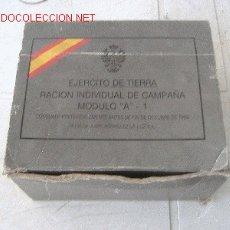 Militaria: RACION INDIVIDUAL DE CAMPAÑA. Lote 26540232