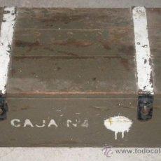 Militaria: CAJA ESPAÑOLA 'CAJA Nº4' DE 60 X 36 X 27 CMS. Lote 13207164