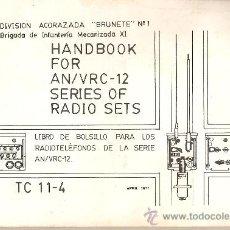 Militaria: MANUAL RADIOTELEFONOS AN/VCR-12.DIVISION ACORAZADA BRUNETE Nº1.EN ESPAÑOL.23.5X16.. Lote 26128443