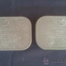 Militaria: DOS CAJAS DE RACION INDIVIDUAL DE EMERGENCIA. Lote 38351689