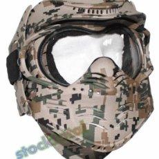 Militaria: MASCARA PROTECCION FACIAL PROTECTION MASK AIRSOFT CAMO DIGITAL 10610S MF13. Lote 38386011