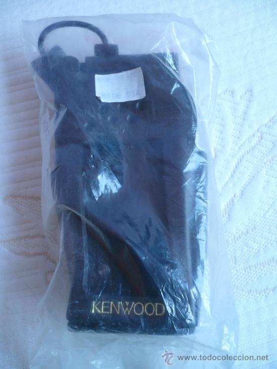 Funda piel porta walkie talkies marca KENWOOD, usado segunda mano