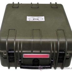Militaria: CAJA MILITAR PLASTICO VERDE RESISTENTE AGUA 41,9X36X19,5 CMS 27164 MF13. Lote 39388378