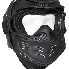 Militaria: MASCARA PROTECCION FACIAL PAINTBALL AIRSOFT NEGRO 10610A MF13. Lote 39404419