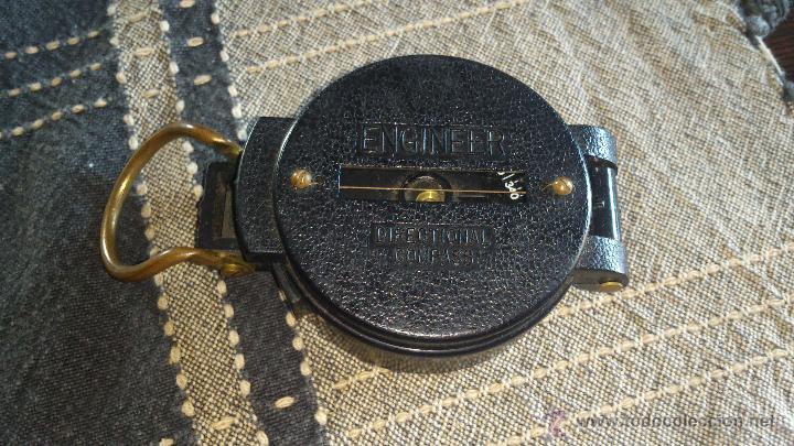 Militaria: Brújula ENGINNER DIRECTIONAL COMPASS,Con lupa. Funcionando. - Foto 2 - 46835455