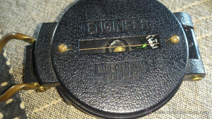 Militaria: Brújula ENGINNER DIRECTIONAL COMPASS,Con lupa. Funcionando. - Foto 9 - 46835455