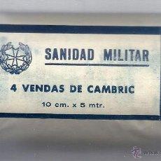 Militaria: 4 VENDAS DE CAMBRIC. NUEVA. SIN ABRIR. AÑOS 50.. Lote 48594482
