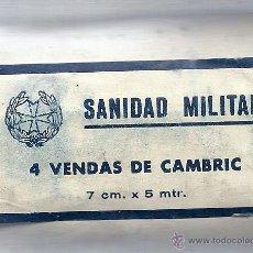 Militaria: 4 VENDAS DE CAMBRIC. NUEVA. SIN ABRIR. AÑOS 50. 7CM 15 MTR. AÑOS 50.. Lote 48594499