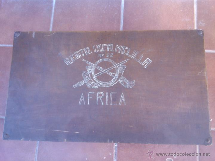 MALETA MADERA MILITAR EJERCITO TROPAS EN AFRICA (Militar - Equipamiento de Campaña)