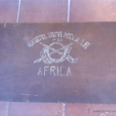 Militaria: MALETA MADERA MILITAR EJERCITO TROPAS EN AFRICA. Lote 48705182