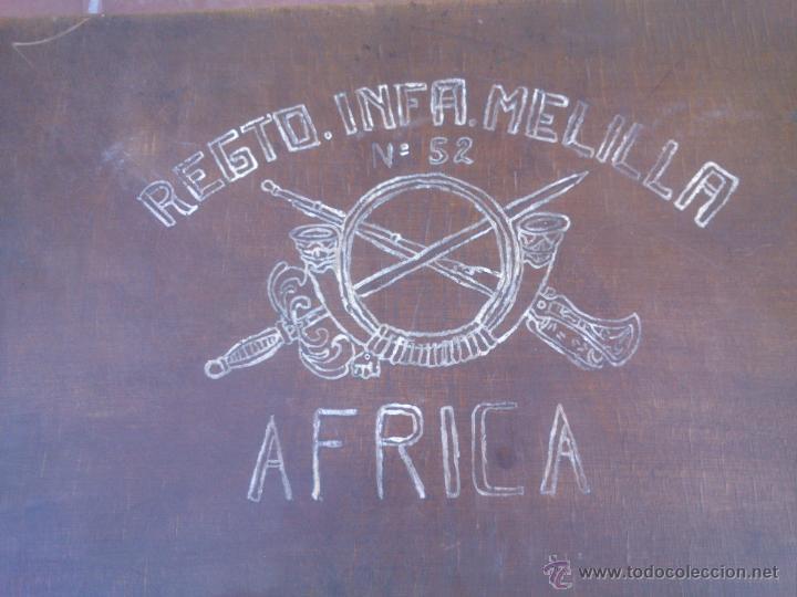 Militaria: MALETA MADERA MILITAR EJERCITO TROPAS EN AFRICA - Foto 2 - 48705182