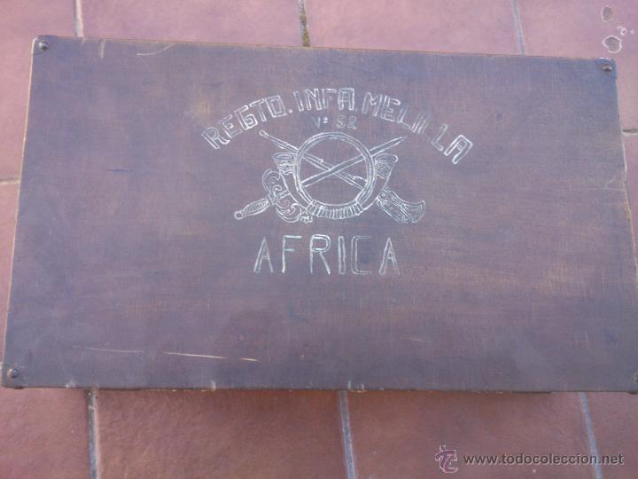 Militaria: MALETA MADERA MILITAR EJERCITO TROPAS EN AFRICA - Foto 15 - 48705182