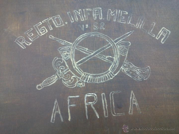 Militaria: MALETA MADERA MILITAR EJERCITO TROPAS EN AFRICA - Foto 16 - 48705182